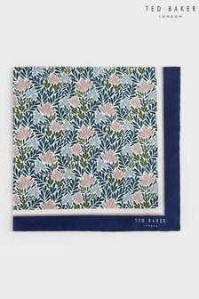 Ted Baker Blue Braidz Interest Floral Printed Pocket Square