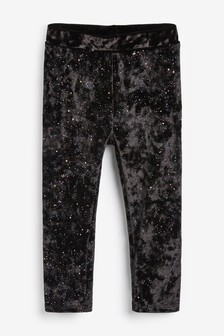 Glitter Velour Leggings (3mths-7yrs)