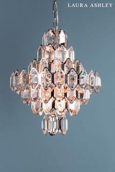 Laura Ashley Gold Windsor 8 Light Art Deco Crystal Ceiling Light
