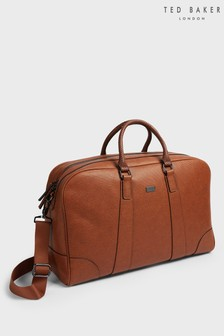 Ted Baker Brown Ripleey Textured PU Holdall
