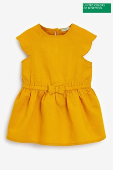 Benetton Yellow Bow Dress