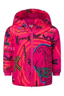Girls Fuchsia Padded Jacket