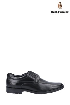 Hush Puppies Black Brandon Lace-Up Shoes