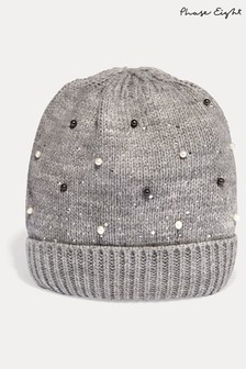 Phase Eight Grey Joni Jewel Hat