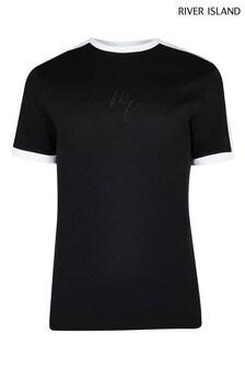River Island Black Maison Turbo T-Shirt