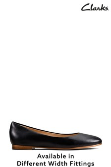 Clarks Black Leather Grace Piper Shoes
