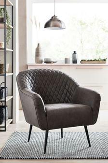 Hamilton Armchair With Black Legs