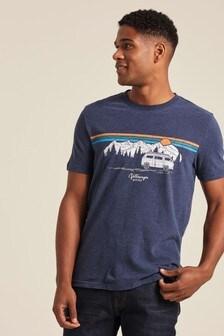 FatFace Blue VW Mountain Sunset Graphic T-Shirt