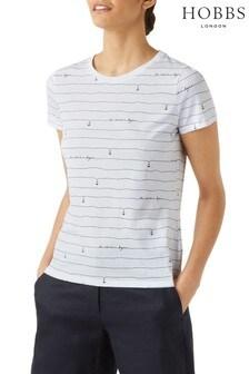 Hobbs White Printed Pixie T-Shirt