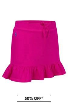 Ralph Lauren Kids Girls Purple Cotton Skirt