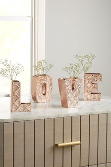 Set of 4 Love Vases
