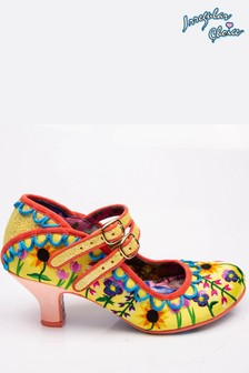 Irregular Choice Yellow Charmers Market Bar Shoes
