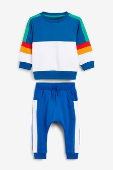 Colourblock Crew Top And Joggers Set (3mths-7yrs)