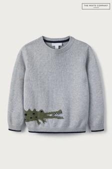 The White Company Grey Crocodile Jumper