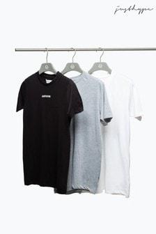 Hype. Black/White/Grey Men's T-Shirts Three Pack