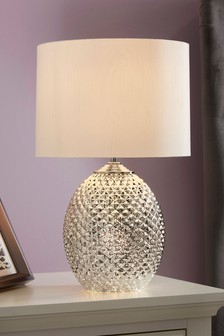 Silver Table Lamps | Silver LED Touch