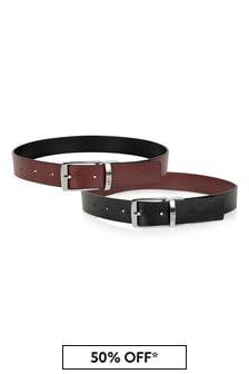 Boys Red/Black Reversible Belt