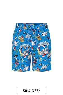 Stella McCartney Kids Boys Blue Swim Shorts