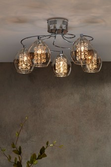 Bella 5 Light Flush Fitting