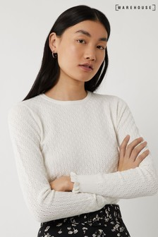 Warehouse Cream Spring Bud Stitch Jumper