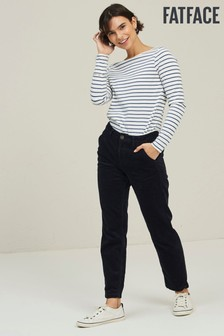 FatFace Blue Cord Tapered Trousers