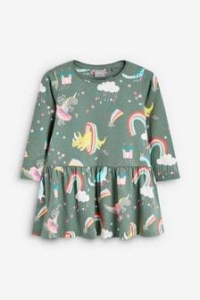 All Over Dino Print Dress (3mths-7yrs)