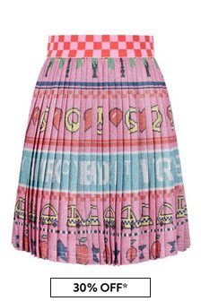 Marc Jacobs Girls Pink Pleated New York City Skirt