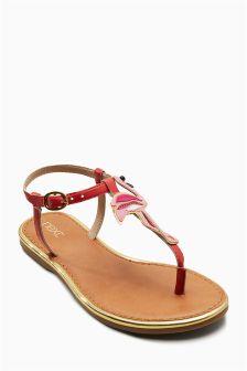 Leather Appliqué Sandals (Older)