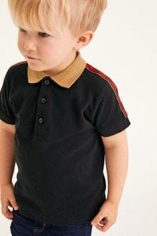 Shoulder Tape Piqué Jersey Polo Shirt (3mths-7yrs)