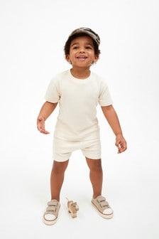 Plain Sweat T-Shirt And Shorts Set (3mths-7yrs)