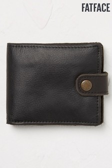 FatFace Black Raw Edge Leather Wallet