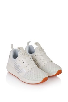Kids White/Silver Fusion Racer Trainers