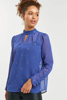 High Neck Blouse