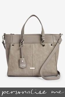 Personalised Tab Detail Tote Bag