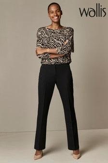 Wallis Black PVL Bootcut Trousers