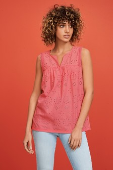 Broderie Sleeveless Top