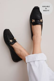 Leather Hardware Driver Shoes