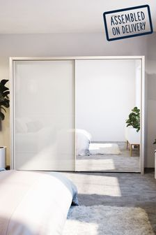 Peyton 2.6M Glass Sliding Wardrobe