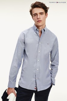 Tommy Hilfiger Blue Flex Oxford Shirt
