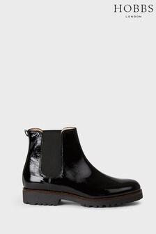 Hobbs Black Eddie Chelsea Boots