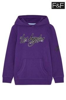F&F Los Angeles Purple Hoody