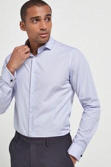 Stripe Shirt With Trim Detail