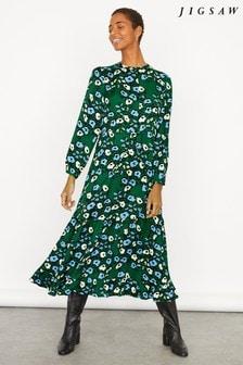 Jigsaw Graphic Poppy Maxi Midi Dress