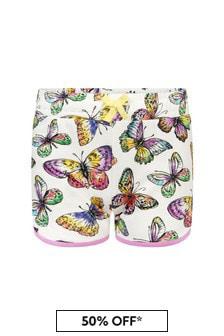 Stella McCartney Kids Girls Multicoloured Cotton Shorts