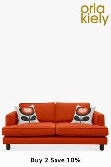 Orla Kiely Willow Medium Sofa with Walnut Feet