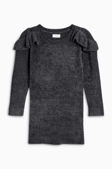 Frill Detail Chenille Jumper Dress (3mths-6yrs)