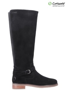 Cotswold Black Leafield Knee High Boots