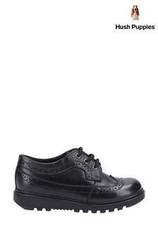 Hush Puppies Black Felicity Senior School Shoes