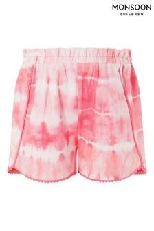 Monsoon Pink Tie Dye Jersey Shorts