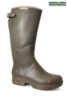 Goodyear Neoprene Lined Green Stream Wellington Boots